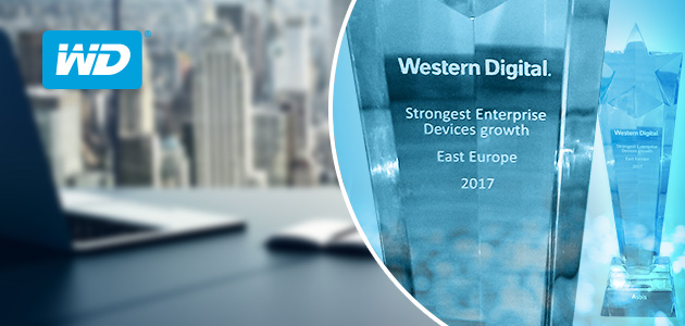 "ASBIS received ""Strongest Enterprise Device Growth 2017 in Eastern Europe"" award from Western Digital."